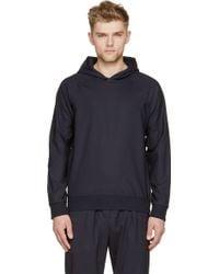Paul Smith Navy Light Wool Side Zip Hoodie - Lyst