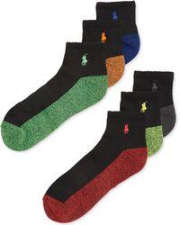 Polo Ralph Lauren Mens Athletic Quarter Socks 6pack - Lyst