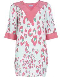 Matthew Williamson Electro Leopard Silk Kaftan Dress - Lyst
