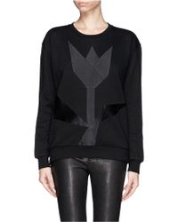 Stella McCartney Geometric Patchwork Sweatshirt - Lyst