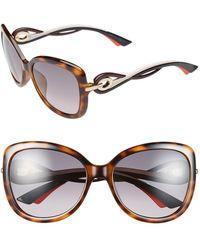 Dior Women'S 'Twisting' Oversized 58Mm Sunglasses - Havana - Lyst