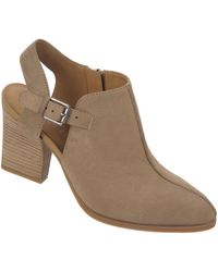 Franco Sarto Capsule Nubuck Leather Heeled Ankle Boots - Lyst