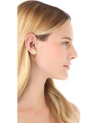 Marc By Marc Jacobs - Logo Heart Stud Earrings - Oro - Lyst