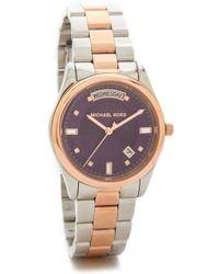 Michael Kors Colette Watch - Silverroseamethyst - Lyst