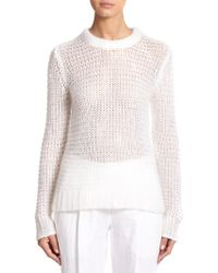 Michael Kors Mohair Open-Knit Sweater - Lyst