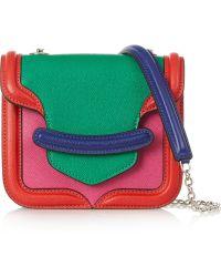Alexander McQueen The Heroine Mini Textured-Leather Shoulder Bag - Lyst