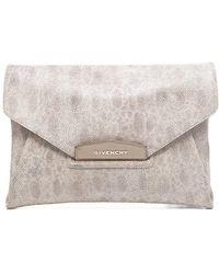 Givenchy Pre-owned Beige Stingray Overzised Antigona Clutch - Lyst
