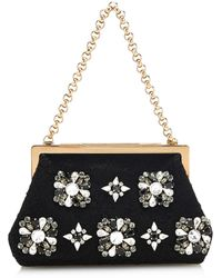 Dolce & Gabbana Sara Lace and Crystal Evening Bag - Lyst