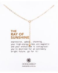 Dogeared - Ray Of Sunshine Y Bead Necklace - Lyst