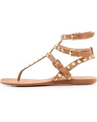 Ash Oasis Studded Sandals New Nude - Lyst