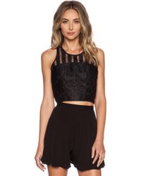 Milly Jacquard Racer Shell - Lyst