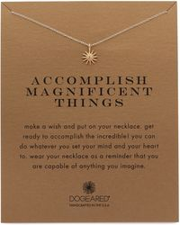Dogeared - Accomplish Magnificent Things Charm Necklace - Lyst
