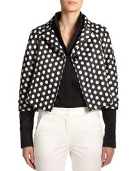 Armani Cropped Polka-Dot Jacket - Lyst