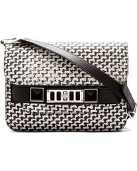 Proenza Schouler Black and Off_white Graphic Tweed Ps11 Mini Classic Shoulder Bag - Lyst