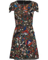 Alice + Olivia Ellen Beaded Sequined Mesh Dress - Lyst