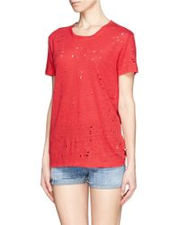 Iro Clay Distressed Linen Tshirt - Lyst