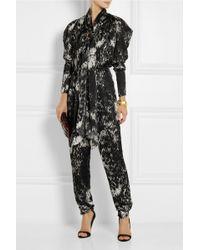 Lanvin Printed Silkgeorgette Jumpsuit - Lyst