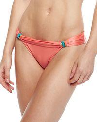 Vix Solid Peach Bia Tube Hardware Swim Bottom - Lyst