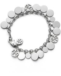 Tory Burch - Logo Charm Bracelet - Lyst