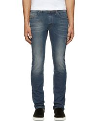 Diesel Faded and Distressed Thavar Jeans - Lyst