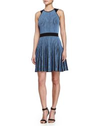 Opening Ceremony Vertical-Stripe Flare Dress - Lyst