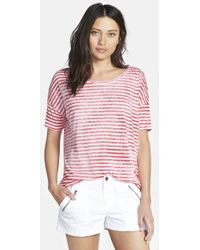 Ace Delivery Stripe Boyfriend Tee - Lyst