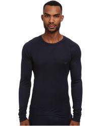 Emporio Armani Soft Interlock Loungwear Long Sleeve Top - Lyst
