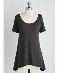 East Concept Fashion Ltd   By And Lodge Top In Grey   Lyst