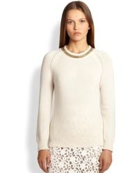 Burberry London Wool & Cashmere Chain-Detail Sweater - Lyst