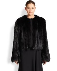 The Row Hilliard Fox Fur Jacket - Lyst