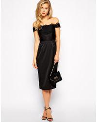 Asos Lace Panel Wrap Dress - Lyst