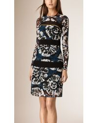 Burberry | Tie-dye Print Lace Shift Dress | Lyst