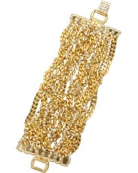Tom Binns Uber Urban Gold-Plated Crystal Bracelet - Lyst