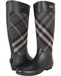 Burberry Check Panel Rainboots - Lyst