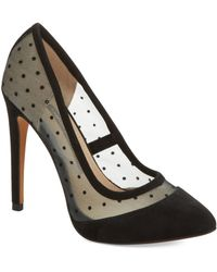 French Connection Camleigh Velvet Toe Pumps - Lyst