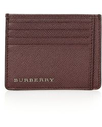 Burberry London Leather Bernie Card Case - Lyst