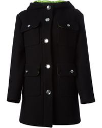 Moschino Cheap & Chic Patch Pocket Detail Coat - Lyst