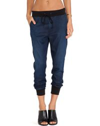 7 For All Mankind Indigo Jogger - Lyst