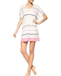 Hue - Striped Sleep Caftan - Lyst