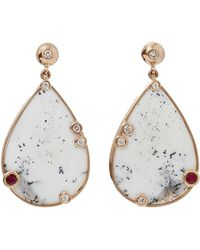 Boaz Kashi - Speckled Dalmatian Agate Earrings - Lyst