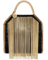 Stella McCartney | Falabella Chain Fringed Tiny Tote | Lyst