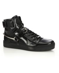 Gucci | Horsebit Detail Leather Sneakers | Lyst