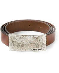 Diesel Rectangular Buckle Belt - Lyst