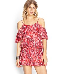 Forever 21 Offtheshoulder Flounce Dress - Lyst