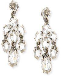 Alexis Bittar Fine - Small Chandelier Earrings W Quartzgreen Sapphirediamonds - Lyst