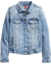 H&M Denim Jacket With A Print - Lyst