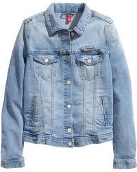H&M Denim Jacket With A Print - Lyst