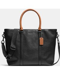 COACH   Metropolitan Tote In Contrast Pebble Leather   Lyst