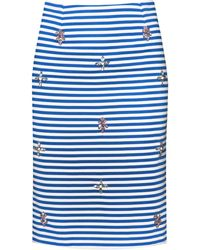 Pixie Market | Bejeweled Striped Pencil Skirt | Lyst