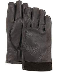 UGG - Gibson Leather Gloves - Lyst